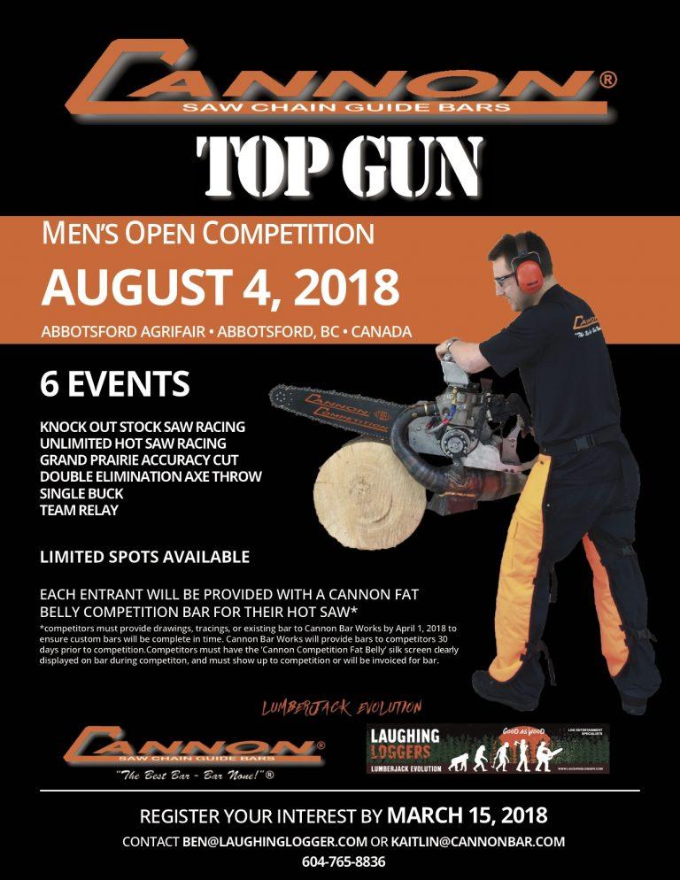 cannon top gun logger show poster